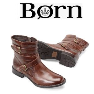 Born McMillian Leather Boots in Dark Brown Size: 9.5